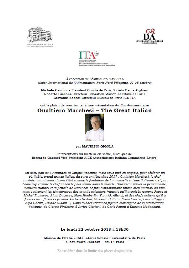 Maison italie Cité universitaire octobre 2018