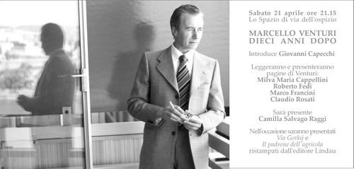 Omaggio allo scrittore Marcello Venturi