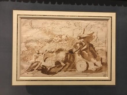 """Charles Le Brun (Parigi, 1619-1690), """"Minerva sconfigge un'arpia""""."""