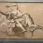 "Noël Coypel (Parigi, 1628-1707), ""Figura femminile, distesa all'indietro su una nuvola (La Frode)"""