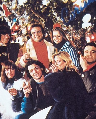 Il cast di 'Vacanze di Natale', 1983