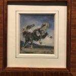 """Eugène Delacroix (Charenton-Saint-Maurice 1798 – 1863 Parigi), """"Cavallo scalciante"""""""