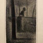 """Georges Seurat, """"Donna appoggiata a un parapetto della Senna""""."""