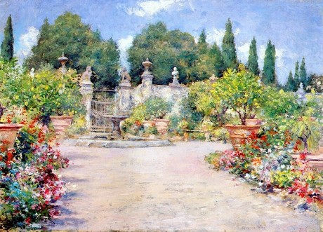 WILLIAM MERRITT CHASE, An Italian Garden (1909 c.) © Chrysler Museum of Art