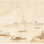 Francesco Guardi, Il Forte di San Nicolò visto dalla laguna, anni ottanta del XVIII secolo