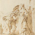 Giovanni Battista Tiepolo, L' Incontro di Antonio e Cleopatra, anni quaranta del XVIII secolo