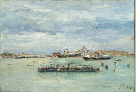 WILLIAM MERRITT CHASE, Gray Day on the Lagoon (1913 c.) © Museum of Fine Arts, Boston