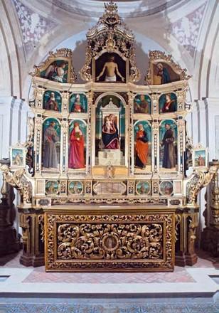 Cima da Conegliano, Polittico della Basilica di Santa Maria Maggiore, anno 1499, olio su tavola, (foto di Pietro Amato).