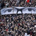 La manifestazione per Charlie Hebdo del 2015