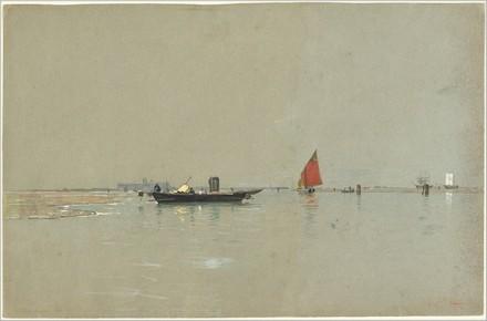 William Stanley Haseltine, Barche da pesca veneziane nella luce del mattino, 1871/1874