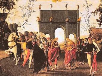 Le nozze tra Griselda e Gualtieri (particolare), Luca Signorelli, National Gallery, Londra
