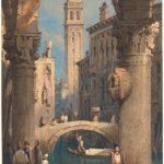 Samuel Prout, San Giorgio dei Greci vista da un'arcata, 1824/1829