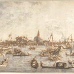 Canaletto, Il Bucintoro a San Nicolò di Lido, 1765/1766