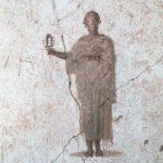 Vignetta raffigurante un sacerdote isiaco con sistro. Casa di Octavius Quartio, Pompei