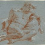 Giambattista Tiepolo, Nudo maschile seduto, 1752/1753