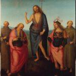 Perugino, S.Giovanni Battista tra i santi Francesco Girolamo, Sebastiano e Antonio da Padova, 1510, Perugia, Galleria Nazionale dell'Umbria