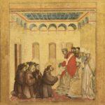 Panneau central de prédelle de Saint François recevant les stigmates