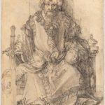 Albrecht Dürer, Sultano orientale in trono, ca. 1495