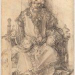 Albrecht Dürer, Sultano orientale in trono, ca. 1495 penna e inchiostro nero - National Gallery of Art, Washington