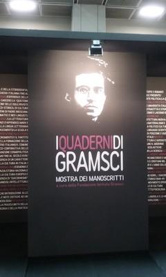 Entrée del'exposition Gramsci