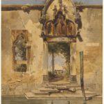 Carl Friedrich Heinrich Werner, Il portale della Madonna della Misericordia dal canale, 1844