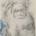 Lorenzo Tiepolo, Uomo anziano barbuto con la testa appoggiata alla mano, 1755/1762