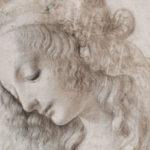 Leonardo da V., Testa femminile con sguardo verso il basso