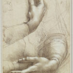 Leonardo da V., Studio di braccia e mani, Royal collection