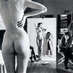 Helmut Newton, Self-Portrait with wife and models, Vogue Studio, Paris 1981 © Helmut Newton Estate