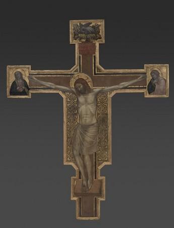 Croix peinte, Louvre, vers 1315