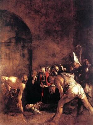 Caravaggio - Il seppellimento di Santa Lucia