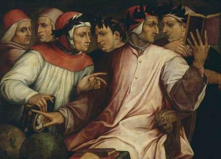 G. Vasari, Sei poeti toscani: Dante, Petrarca, Boccaccio, Cavalcanti...