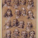 """Louis-Léopold Boilly (1761-1845), """"Ritratto di sedici uomini""""."""