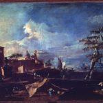 III. Paesaggio di fantasia con tenda di pescatori