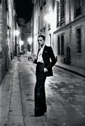 Helmut Newton, French Vogue, Rue Aubroit, Paris 1975 from the series