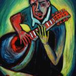 Homme à la mandoline