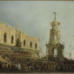 IV. Il doge assiste alla festa del Giovedi grasso in Piazzetta