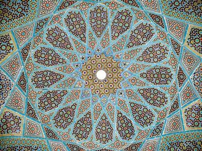 Mosaico del soffitto del padiglione della tomba di Hāfez a Shiraz