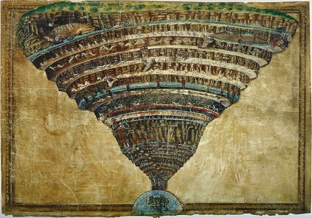 Mappa dell'Inferno di Sandro Botticelli