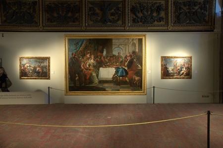 In basso, tappeto cairota, lungo quasi 10 metri  Scuola Grande di San Rocco