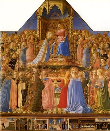 Couronnement de la Vierge, Fra Angelico - Le Louvre