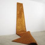 """Armonico CXVI"""" 2009 Fili di rame 400x150x4 cm Courtesy Diagonale/Galleria, Roma"""