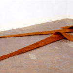 """Armonico V"""" 2005 Fili di rame 350x50x4 cm ciascun elemento Courtesy Antonella Zazzera"""