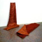 """Armonico X"""" 2005 Fili di rame 300x130x5 cm ciascun elemento Courtesy Antonella Zazzera"""