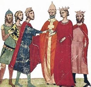 Federico II e Jolanda di Brienne, ultima erede al trono di Gerusalemme