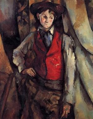 The Boy in a Red Waistcoat di Cézanne, Galleria Nazionale di Washington, USA