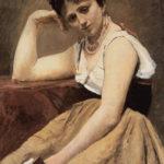 La lecture interrompue, J.B. Corot (1870), Art Institute of Chicago