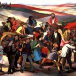 Di Renato Guttuso, Occupazione delle terre incolte in Sicilia, Dresda, Gemäldegalerie