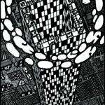 Grattacielo-caduta libera-2008 200x140cm.