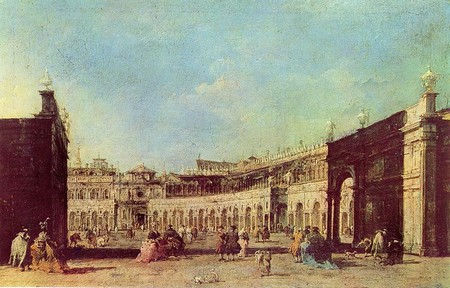 Francesco Guardi, Piazza San Marco a Venezia (circa 1776)